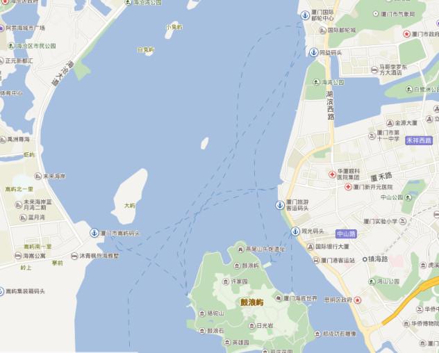厦门北到鼓浪屿有没有码头