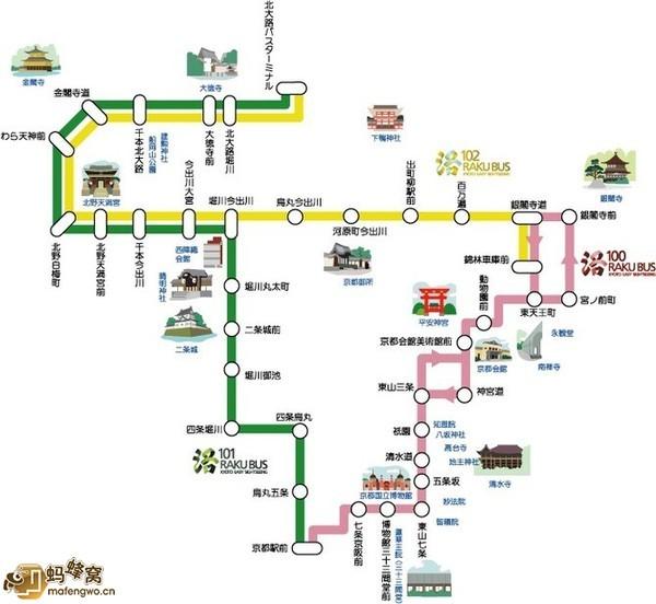 跪求京都的巴士线路图