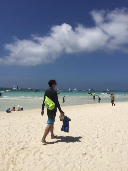 长滩岛----和大小黑蛋一起带上父母扬帆起航