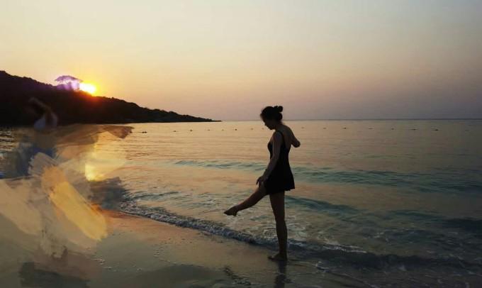 微信人头像沙滩