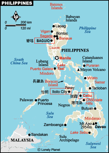 宿务岛薄荷岛地图