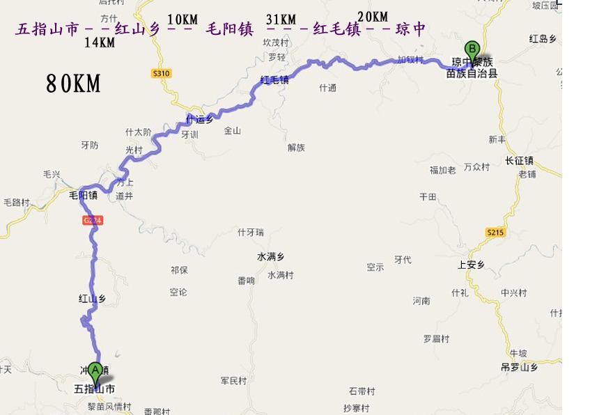 环海南岛骑行详细地图