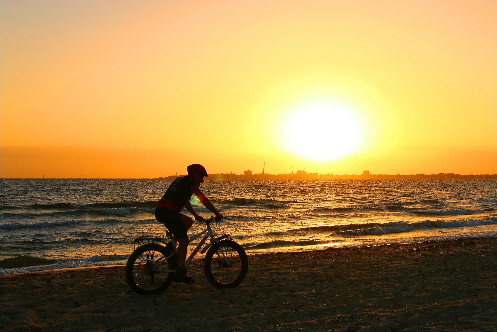 墨尔本随拍 — 夕阳下的海边