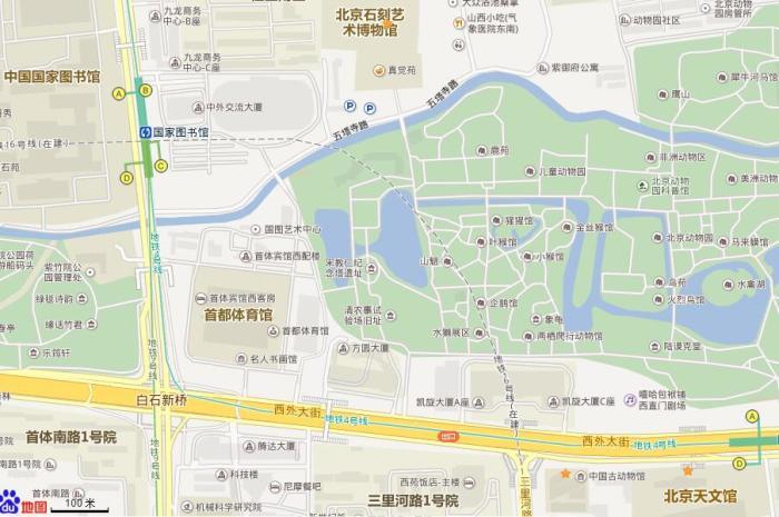 想在北京动物园附近玩半天 有没有挨着近点的地方啊