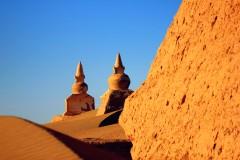 穿越沙漠-额济纳-黑城-沧桑-怪树林-凄美