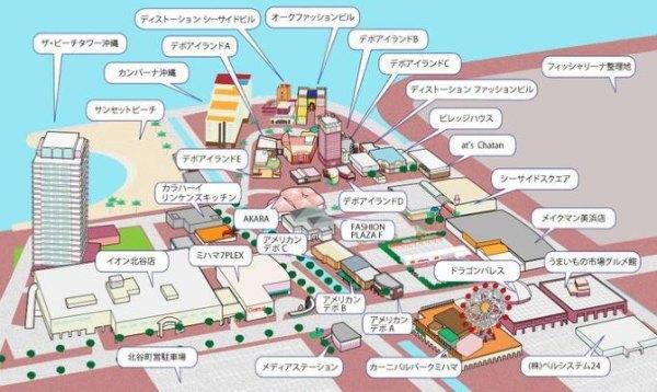 冲绳旅游地图中文版
