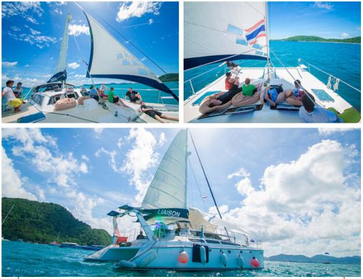 泰国普吉岛 双体帆船liaison号