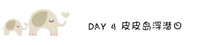 DAY 4 皮皮岛浮潜日